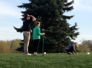 The first and last time we golfed this summer...in early May!
