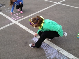 Chalking up the race course!