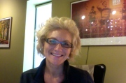 Back at work...with my new Marilyn hairstyle.  Still trying to figure it out...